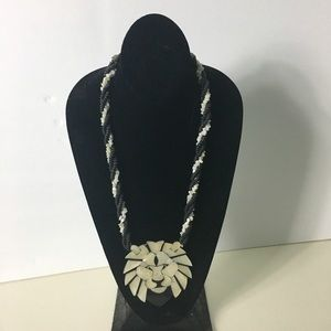 VINTAGE LUCITE Two Tone Statement Necklace